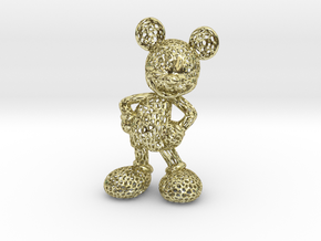Mickey Voronoi 100mm in 18k Gold Plated Brass