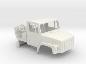 1/64 scale International 2574 Truck cab with inter in White Natural Versatile Plastic