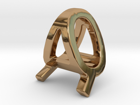 AQ QA - Two way letter pendant in Polished Brass