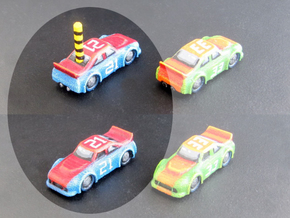 Miniature cars, NASCAR (42 pcs) - Hole variant in White Strong & Flexible