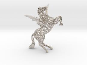 Pegasus Voronoi 80mm in Rhodium Plated Brass