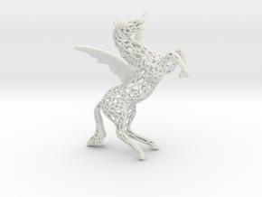 Pegasus Voronoi 80mm in White Natural Versatile Plastic