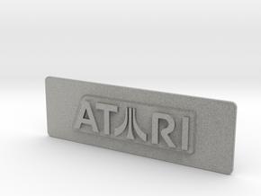 Atari Coin Door Tag (Standard) in Metallic Plastic
