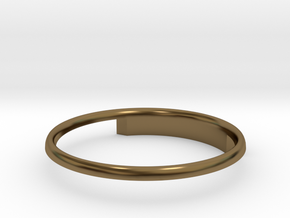 Half Round Ring 16.7mm in Polished Bronze