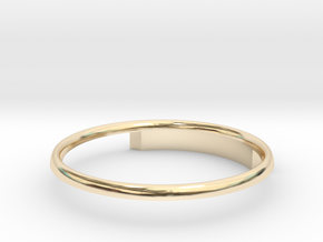 Half Round Ring 16.7mm in 14K Gold