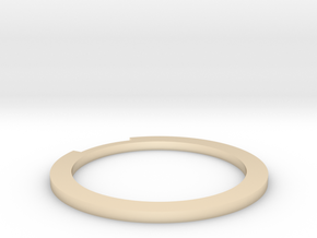 Sliced Ring 16.7mm in 14K Yellow Gold