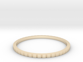 Lined Ring 16.7mm in 14K Yellow Gold