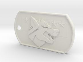 Battletech Clan Wolf in White Natural Versatile Plastic