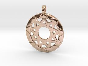 MAGIC VORTEX in 14k Rose Gold Plated Brass