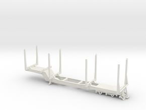 1/32nd Scale PItts style Log Trailer in White Natural Versatile Plastic