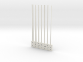 Handy Small Hole / Rod Test Part in White Natural Versatile Plastic