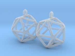 Icosahedron Earring in Smooth Fine Detail Plastic