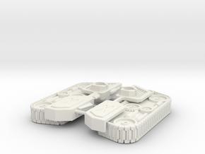 Blocky Driller Tracks Attachment in White Natural Versatile Plastic