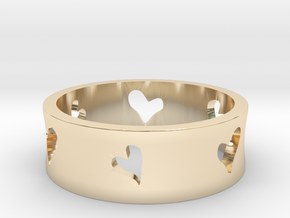 Lovers Series - Hearts in 14K Gold