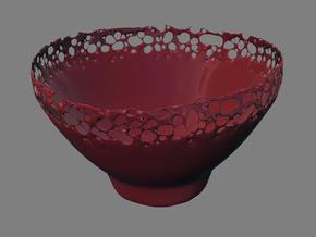 Organic Splash lava bowl in White Strong & Flexible