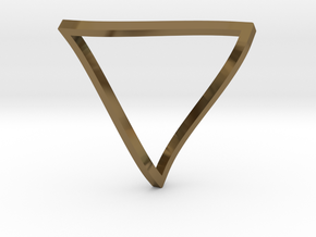 Penrose Triangle - thin in Polished Bronze