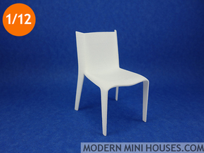 Alias Fly Black Chair 1:12 scale in White Strong & Flexible Polished