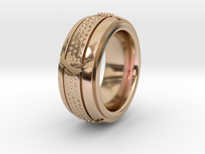 Segment Ring 2 SIZE 10 in 14k Rose Gold Plated Brass