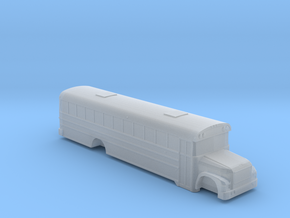 n scale blue bird international 3800 school bus in Smooth Fine Detail Plastic