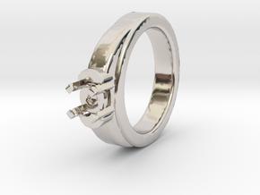 Ø16.20 Mm Diamond Ring Ø7 Mm Fit in Platinum