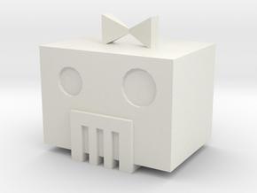 Robot Head in White Natural Versatile Plastic