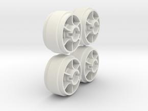 Mini-Z Wheels Ultralight for Slot-it pt29 in White Strong & Flexible