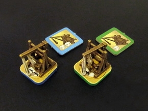 Fief - Trebuchet Tokens (rotating) (6 pcs) in White Strong & Flexible