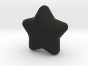 Cute candy Star in Black Natural Versatile Plastic
