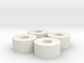 X4 Front wheels D18 +0 Mini-Z in White Strong & Flexible