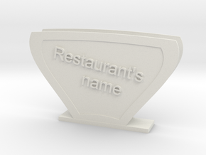 Carry Handkerchiefs with name of Restaurant  in White Natural Versatile Plastic