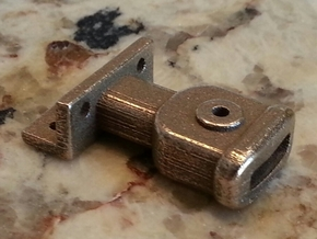 Link Pin Coupler 1:20.32 scale in Polished Bronzed Silver Steel