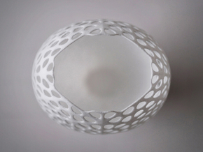 Lace Vase in White Natural Versatile Plastic