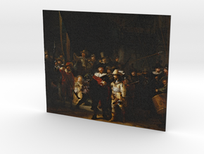 The Night Watch (Rembrandt) in Full Color Sandstone
