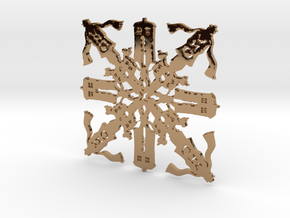 Doctor Who: Fourth Doctor Snowflake in Polished Brass