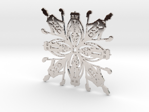 Doctor Who: Eleventh Doctor Snowflake in Platinum
