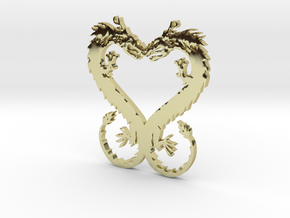 Dragonheart Pendant in 18k Gold Plated Brass