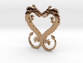 Dragonheart Pendant in Polished Brass