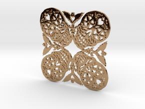 Calaveras Snowflake #2 in Polished Brass