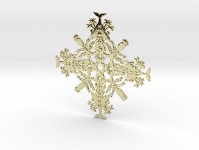 Hawaii Snowflake in 18k Gold