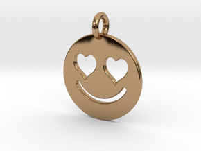 Smilie Love in Polished Brass