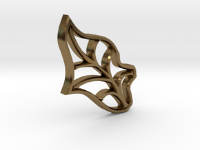Single Leaf - Tiling the Plane - Multi-use  in Polished Bronze