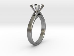 Ø15.6 Mm Diamond Ring Fit Ø5.9 Mm in Natural Silver
