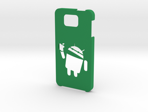 Samsung Galaxy Alpha android eat apple in Green Processed Versatile Plastic