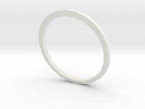 Anel Tríade (piece 2) in White Strong & Flexible