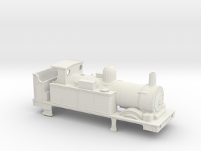 GWR 517 Body - Open Cab Round Firebox in White Natural Versatile Plastic