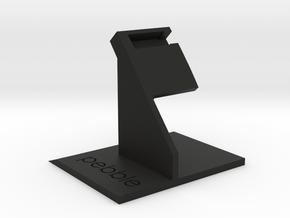 Pebble Time Dock - Simplistic in Black Natural Versatile Plastic