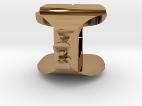 I♥U Shape 2 - View 1 in Polished Brass