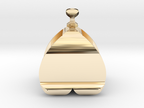 I♥U Shape 2 - View 2 in 14k Gold Plated Brass