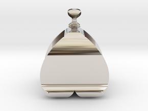 I♥U Shape 2 - View 2 in Rhodium Plated Brass