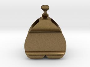 I♥U Shape 2 - View 2 in Natural Bronze